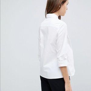 Zara Maternity 3/4 sleeve shirt in stretch cotton